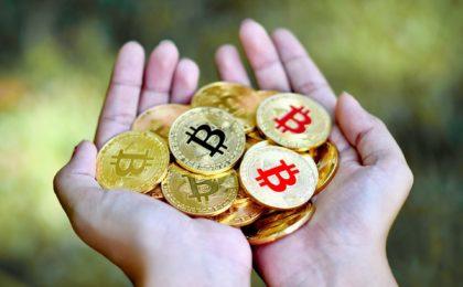 Eine Handvoll Bitcoin
